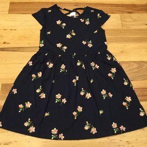 Gap XS, M, L, XL Navy Blue & Pink Floral Dress